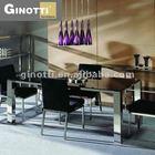 Ginotti venda quente mesa de jantar retangular de vidro cinza
