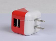 Fold plug dual port universal usb wall charger 3.1a FCC,CE,ROHS,ETL
