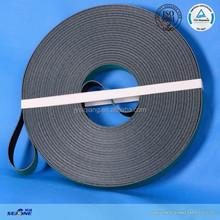 2.2MM thickness black/dark green flat Tangential belt for textile machine