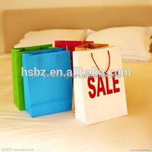 delicate medium sale colorful luxury paper shopping bag with rope handle