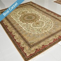 6x9ft different color with same design red and beige handmade silk carpet free shipping
