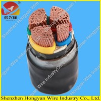 low voltage copper conductor PVC sheath XLPE insulated armored power cable