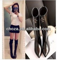 C60201A 2013 THE NEWEST POPULAR EUROPEAN FASHION CROSS DESIGN KNEE BOOTS