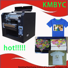 Large a3 size flatbed printing machine t-shirt printer for all kinds of fabric materials