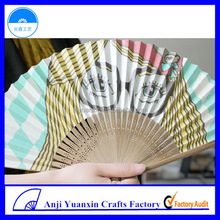 Handmade Mini Bamboo Fan Fashion Accessories Crafts