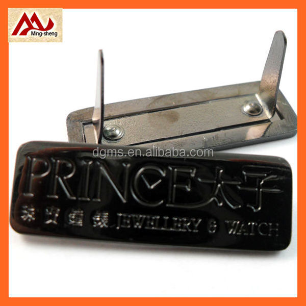 High quality metal plate with custom brand