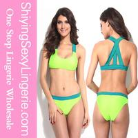 Two-tone Green sport swim wear sexy swimwear sex xxl adult girls images