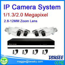 IP camera kits used for outdoor 1/1.3/2.0 MP available ,h.264 diy dvr kit,kpsec mpeg4 network dvr