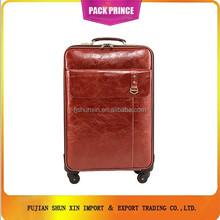 PU leather trolley luggage bag portable luggage alibaba china