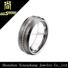 China shenzhen men tungsten titanium alloy ring