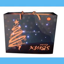 Halloween treat bags with lights flashing