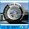 New finished inflatable tire advertising with factory price