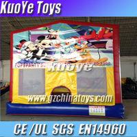 cartoon inflatable kids trampoline