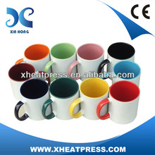 11 oz sublimación Interior y Color de la manija Taza Revestido / máquina de impresión