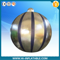 2014 new ceiling hanging inflatable Christmas decoration ball with led lights changabe