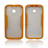 Soft Silicon gel Transparent Hard PC Slide Frame Case for Motorola Moto E/cheap cell phone cases /