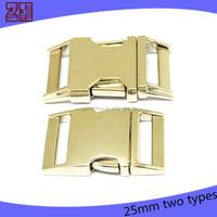 25mm side release bag buckle,metal buckles for backpacks,lock metal bag buckle