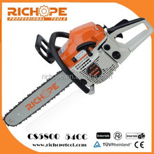 High quality 54CC gasoline chainsaw with oregon chain and walbro carburetor