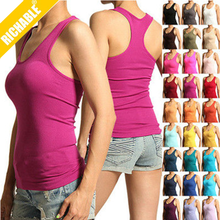 2014 Cheap Custom Logo Women Fitness Tank Tops