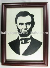 head portrait leather frame wall leather frame leather picture frames