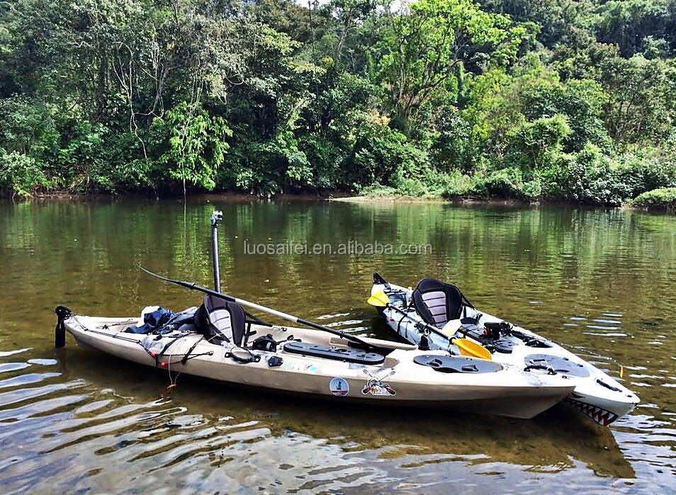Fishing kayak with rudder and foot pedal system buy for Fishing kayak with foot pedals
