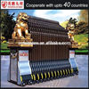 Iron fancy gate track and rail gates boundary wall gate design
