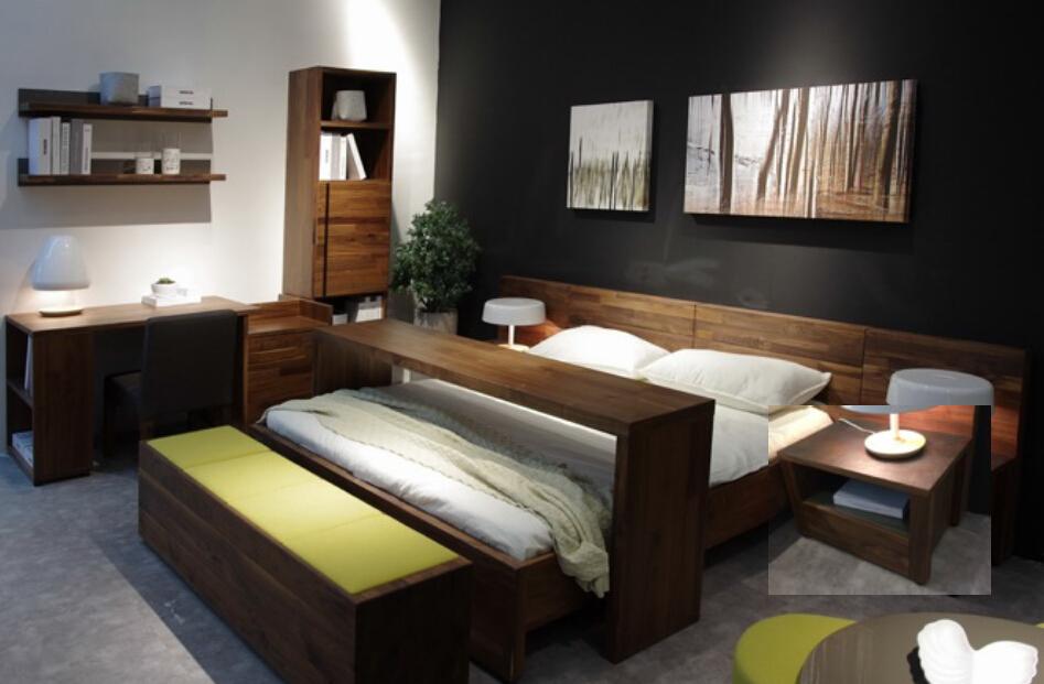 moderne vintage landelijke stijl walnoot houten hotel slaapkamer set ...