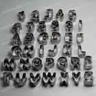 Novo aço inoxidável 26 pcs Alphabet & 10 pcs Nubmer conjunto cortador de biscoitos