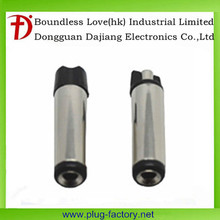 black plastic nickel plated 5.5 mm male dc power plug