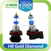 H8 12V 35W PGJ19-1 4300K Gold Diamond Car Fog Head Bright White Light Halogen Bulb UV Filter Auto lamp