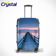 2013 20'' 24'' 28'' Custom Business Travle Colorful Trolley Printed Unique Waterproof Airport Wheeled Personalized Luggage Sets