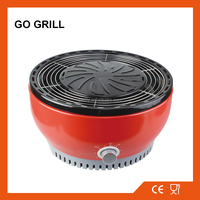 GO GRILL Enamel smokeless charcoal BBQ Grill