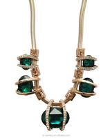 New Design Beautiful sapphire Stone necklace emerald Drop Hula Necklace