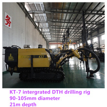 KT7 environment friendly mine drilling rig with dust collection