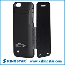 For iphone6 leather flip caver power bank charger case