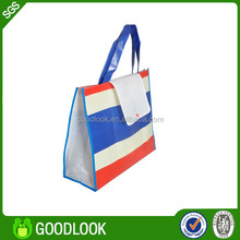 printing foldable laminated eco recyclable non woven bag GL361