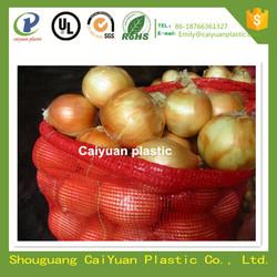 Caiyuan plastic wholesale high quality plastic onion/fruit mesh bag