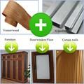 Bois mur rideau profil/placage de bois profilé en aluminium pour mur rideau/mur rideau profil