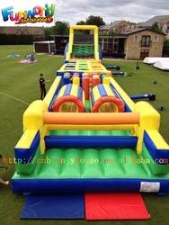 2015 Hot 135ft Giant Adults Inflatable Obstacle, Inflatable Obstacle Slides, Inflatable Sports Obstacle for Sale