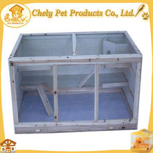 Cheap New White Wooden Simple Pet Rabbit Cage With Tray For Running Widely Pet Cages,Carriers & Houses
