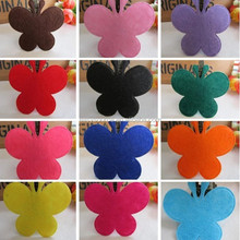 factory price popular fashion non-woven kinds of color customized butterfly decoration felt craft