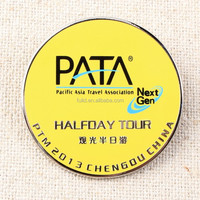 metal stainless iron offset printing lapel pin, zinc alloy offset print lapel pin