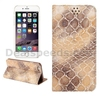Automatic Suction Stone Pattern Card Holder Stand TPU+ PU Leather Case for iPhone 6 6S