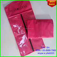 hair extension packaging stain bag/Shandong plastic bags for hair extensions