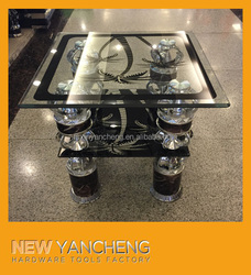 high quality adjustable glass coffee table parts