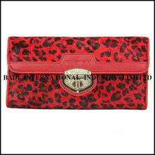2013-2014 latest hot selling newest design pure leather lady and women purse or wallet clutch