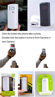 simple design mobile power bank and portable selfie camera bluetooth shutter