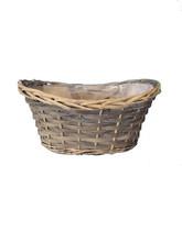 boated shaped miniature wicker baskets , garden scenery flower, artificial flower making