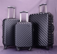Black Pure ABS Luggage And Hard Case