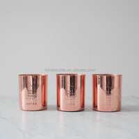 2015 new copper wax candle cup,rose gold candle holder,Golden finish brass metal soy candle vessel copper candle cup